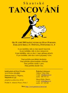 Pozvánka na Skautské tancování z roku 2003